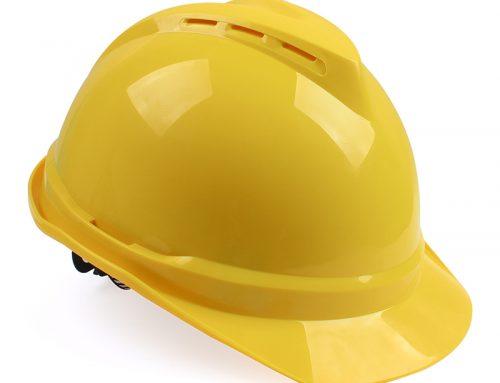 梅思安 10172477 ABS有孔安全帽黄色带透气孔帽壳 灰针织吸汗带 D型下颚带