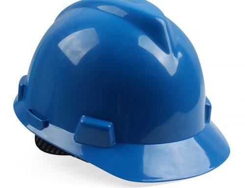 梅思安10146462标准型PE蓝色安全帽一指键帽衬针织布吸汗带D型下颌带