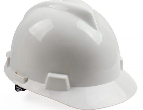 梅思安 10146458标准型PE白色安全帽一指键帽衬针织布吸汗带D型下颌带