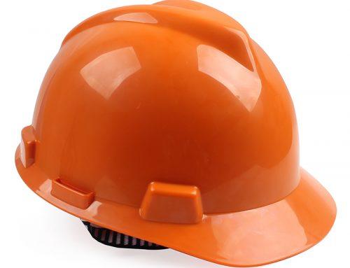 梅思安10146460标准型PE桔黄色安全帽一指键帽衬针织布吸汗带D型下颌带