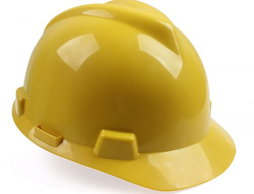 梅思安10146507 ABS标准型安全帽 黄色针织布一指键帽衬 针织吸汗带 D型下颏带