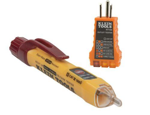 NCVT2PKIT带插座测试仪的双量程非接触电压测试仪