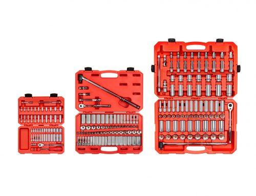 SKT95302 1/4、3/8、1/2英寸驱动器6点套筒和棘轮套件套装(213件)